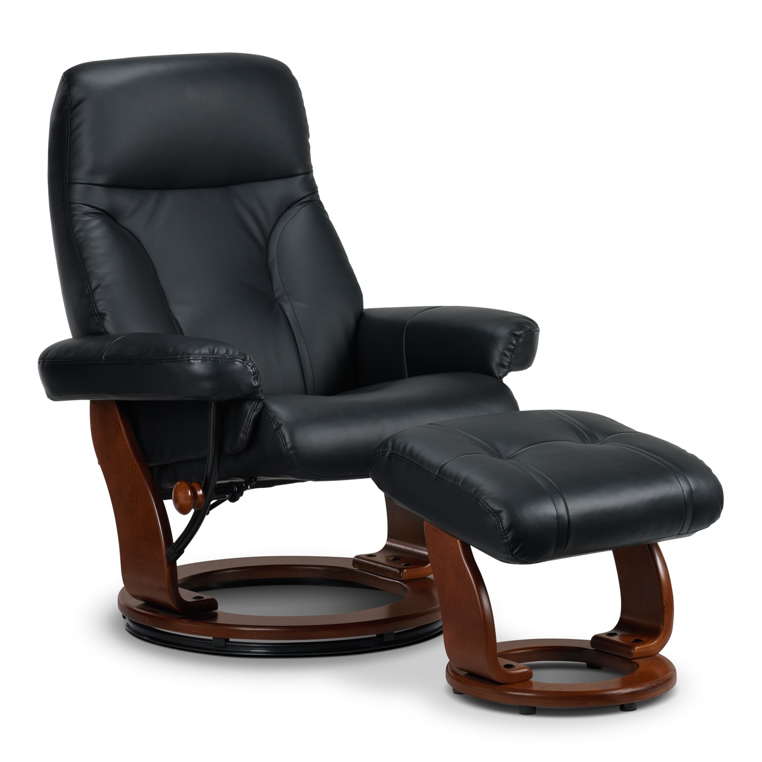 [Eric Chair and Ottoman - Black]