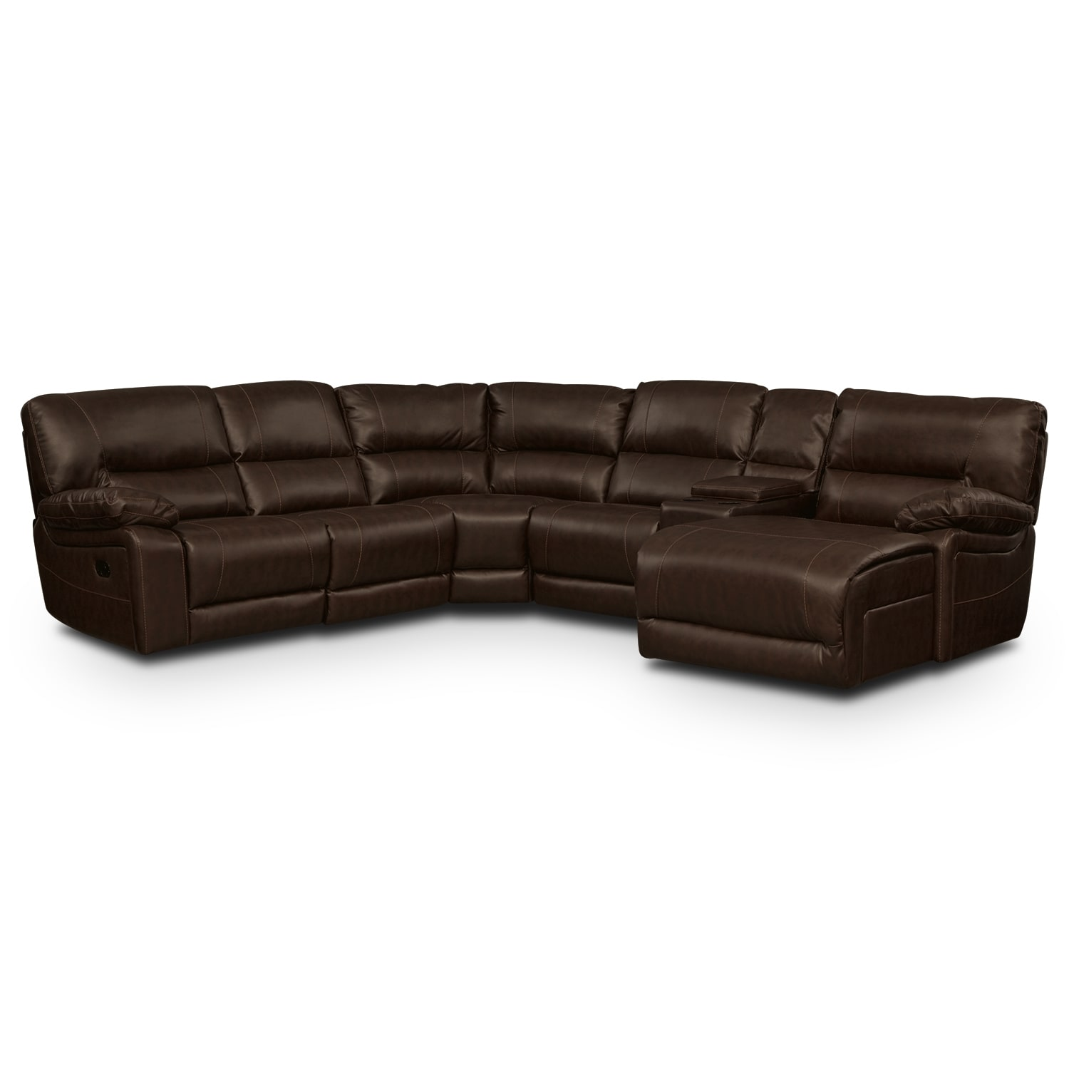 Living Room Furniture - Durango Godiva 5 Pc. Reclining Sectional