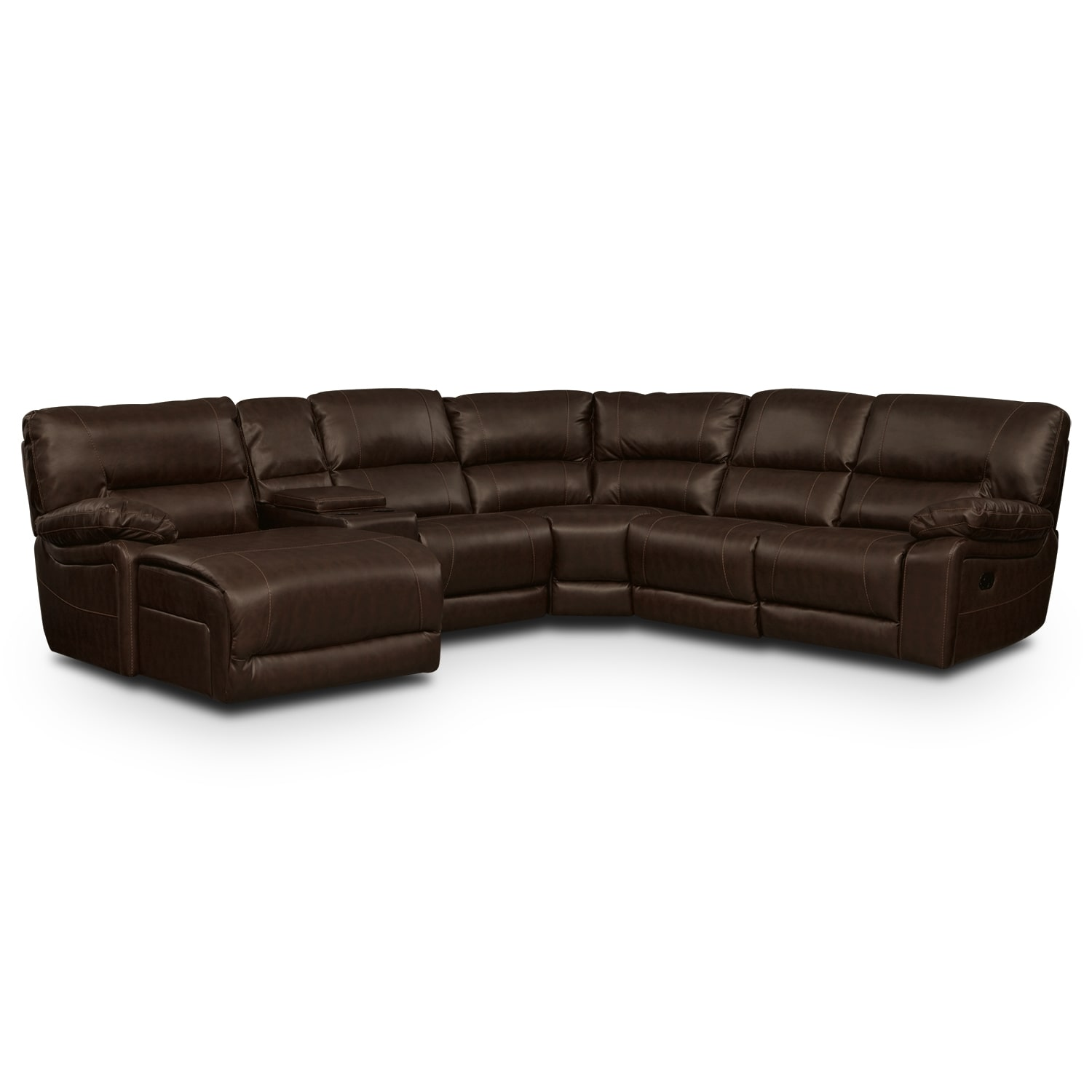 [Wyoming Godiva 5 Pc. Reclining Sectional (Reverse)]