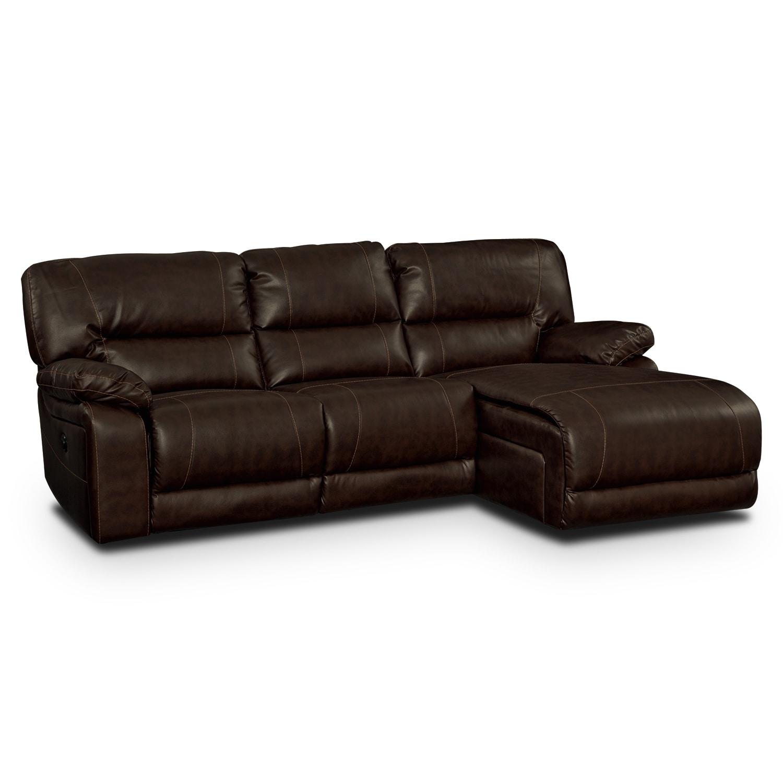 Living Room Furniture - Durango Godiva 2 Pc. Reclining Sectional