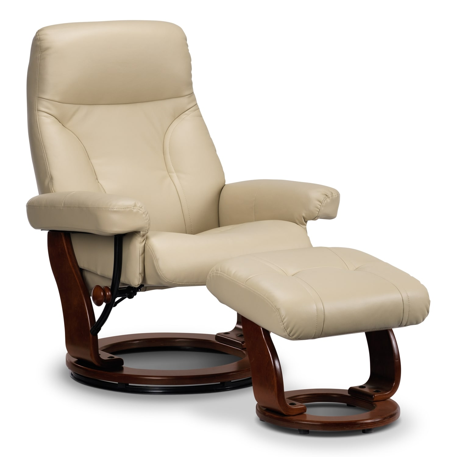 [Eric Chair and Ottoman - White]