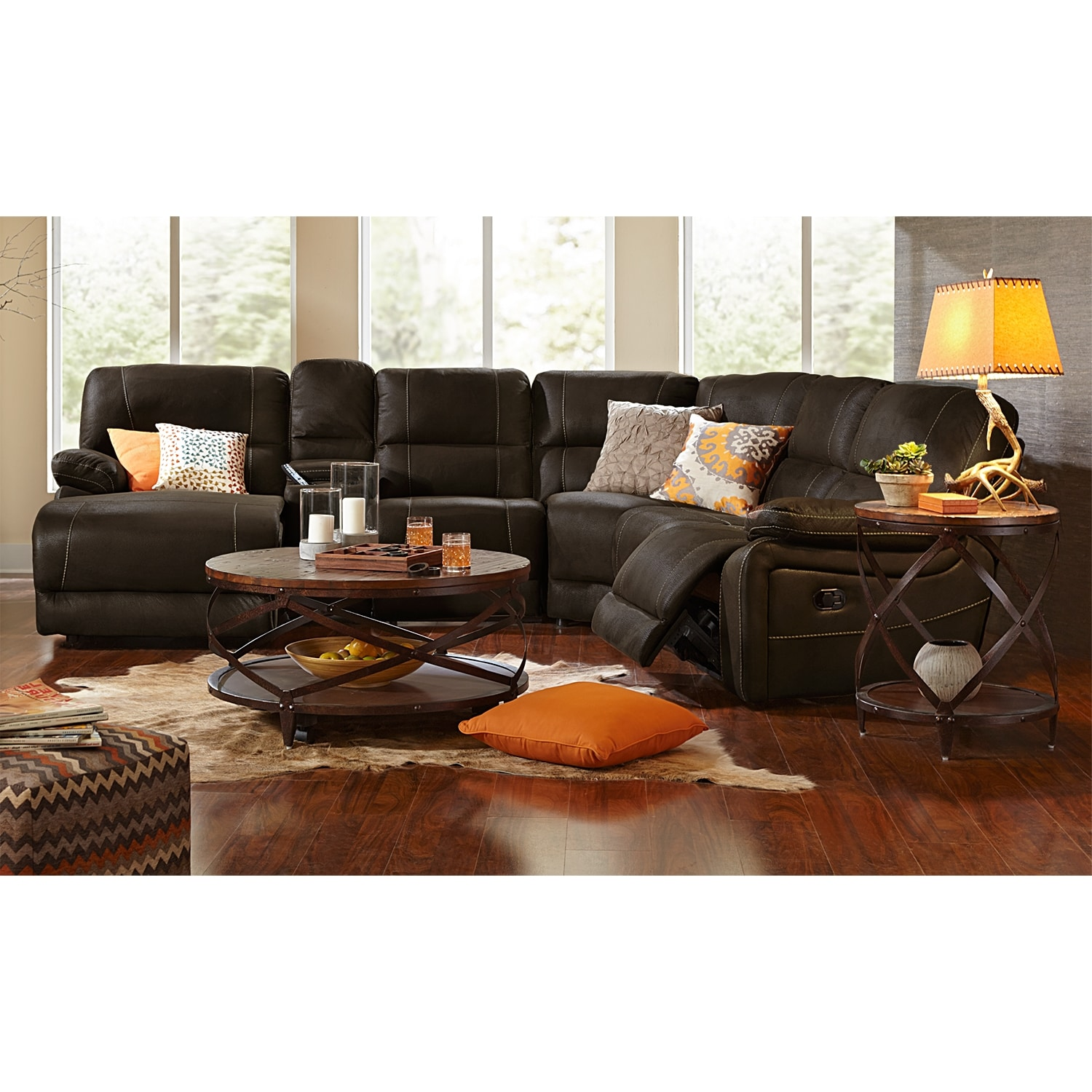 Wyoming 5 Piece Reclining Sectional With Left Facing
