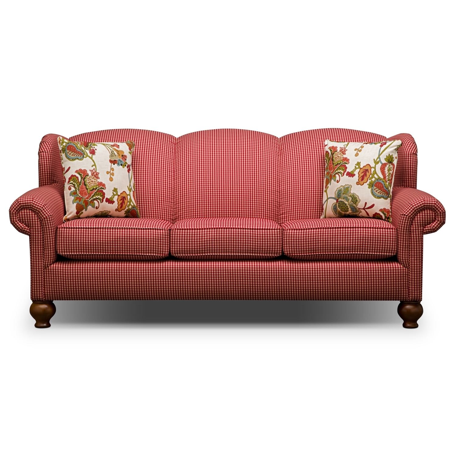 Caroline red sofa Red sofas and loveseats