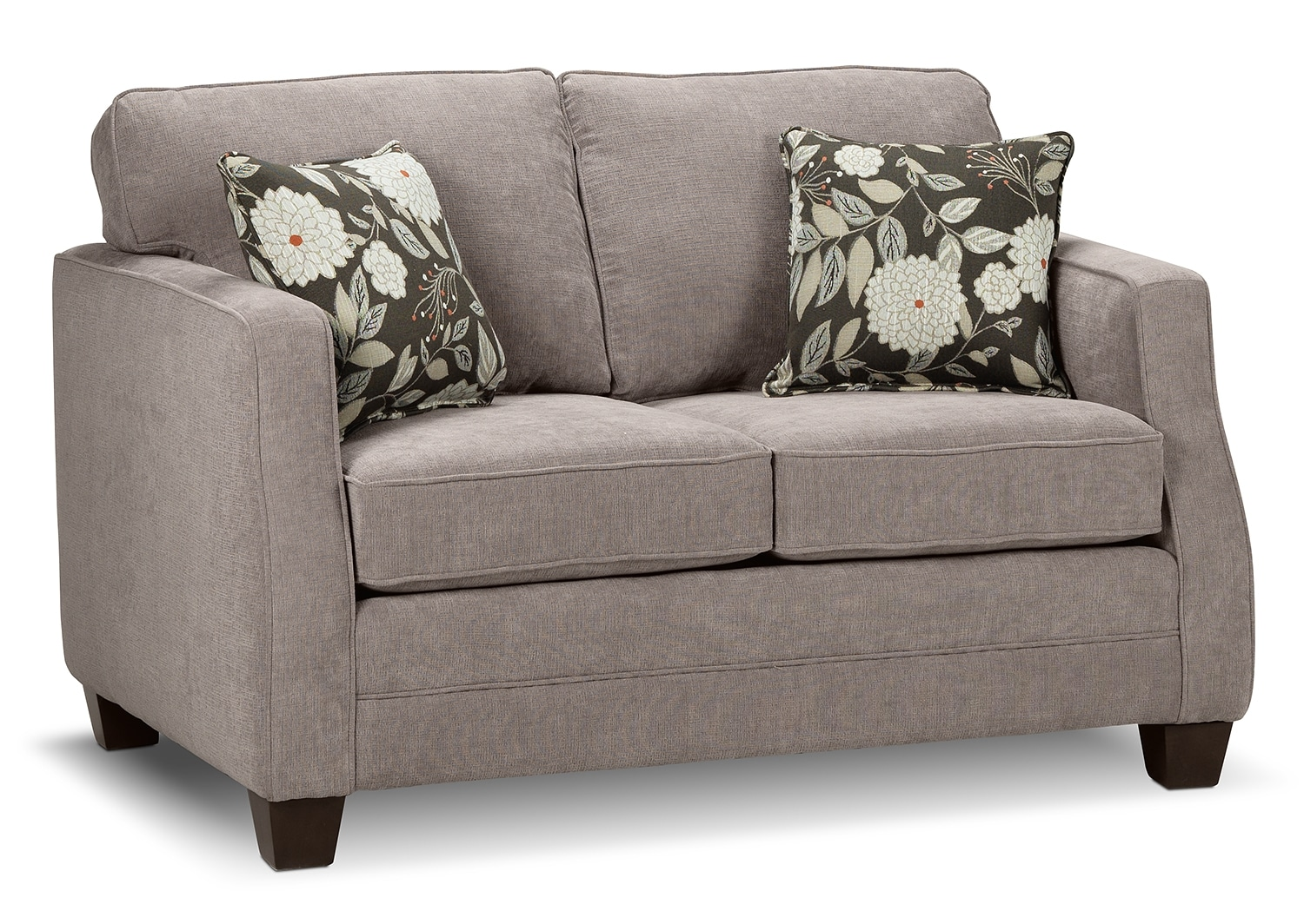 Living Room Furniture - Agnes Loveseat - Taupe