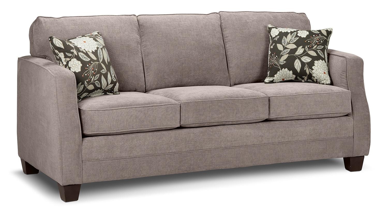 agnes sofa taupe leon 39 s. Black Bedroom Furniture Sets. Home Design Ideas