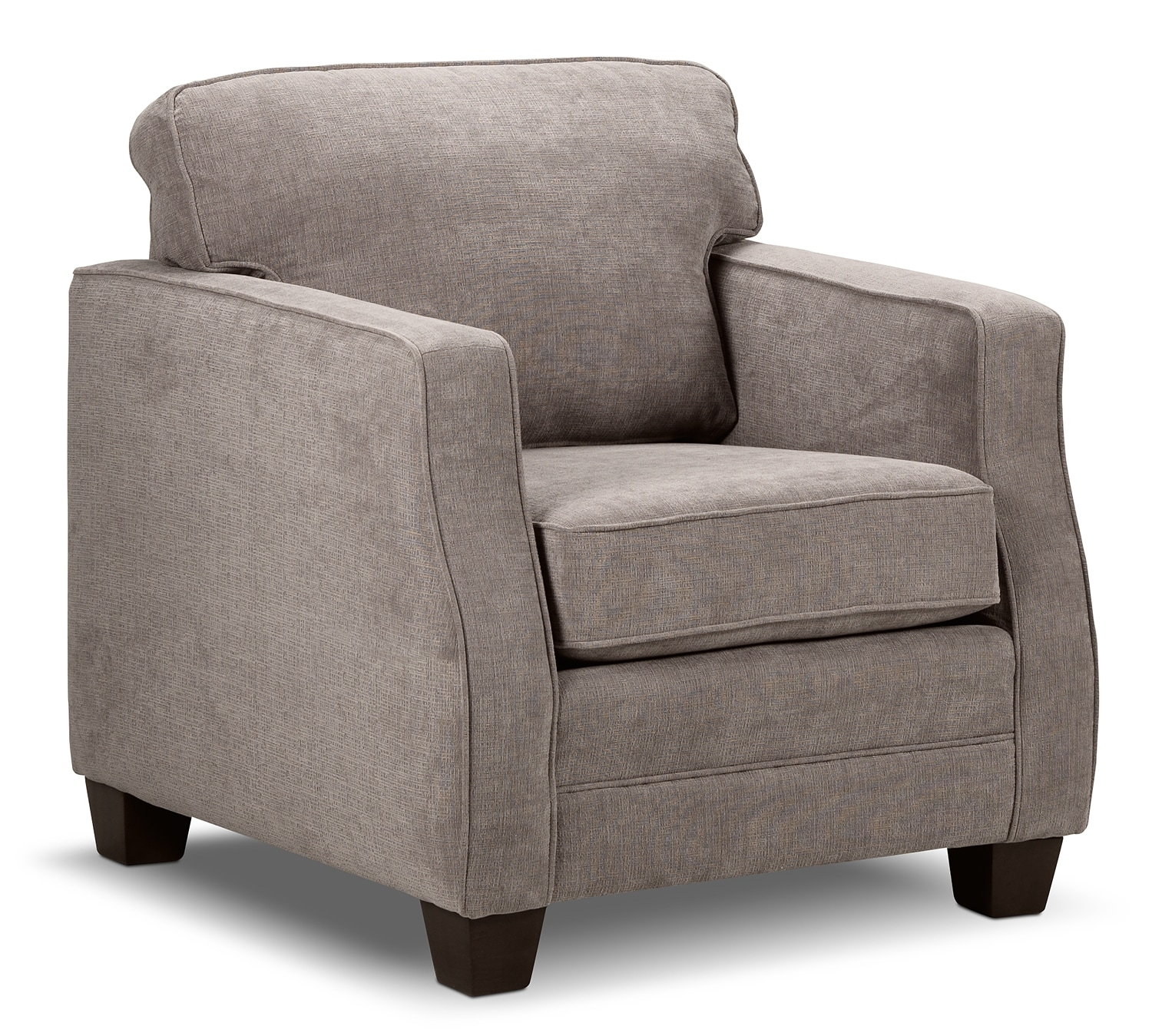 Living Room Furniture - Agnes Chair - Taupe