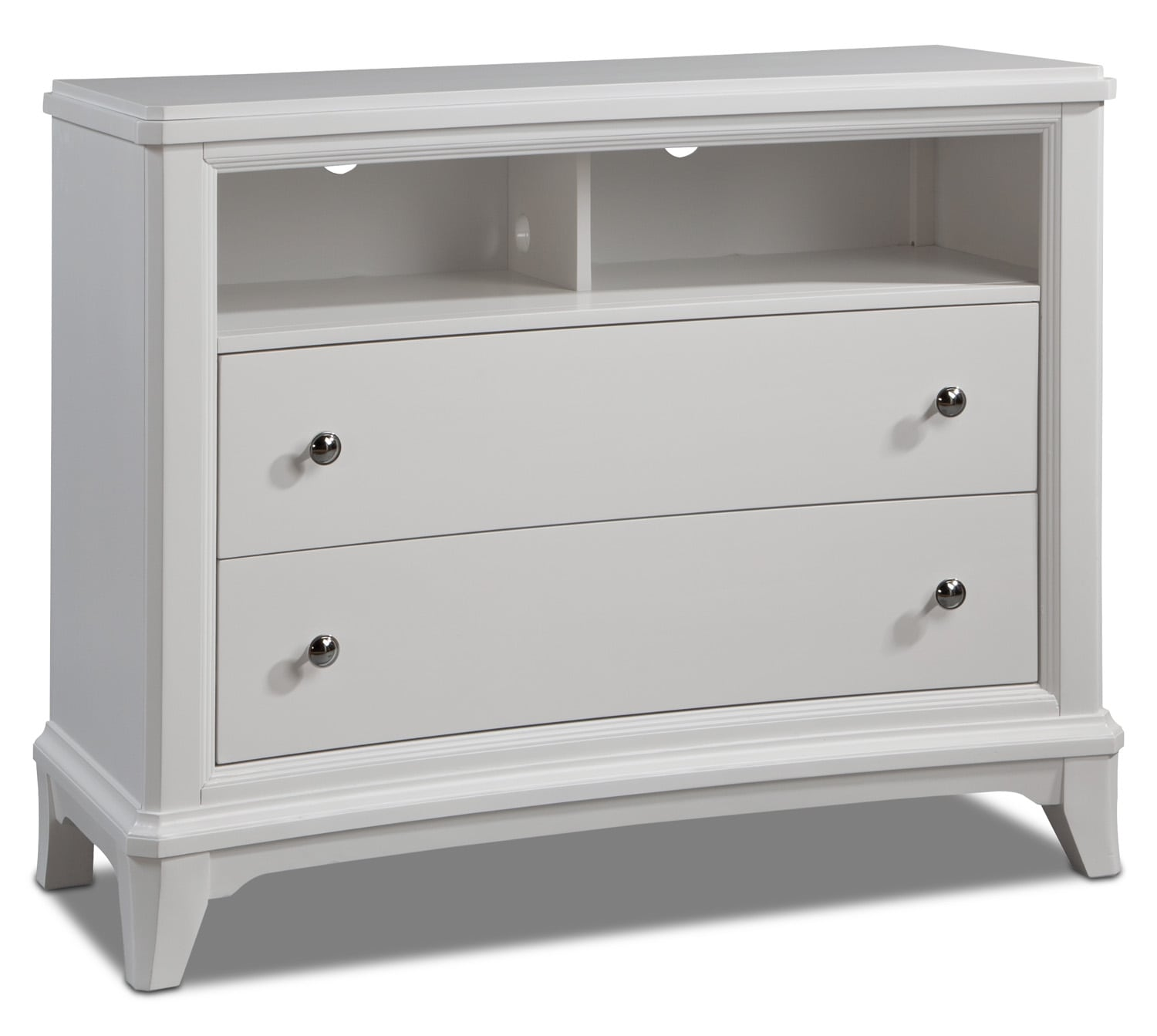 Bedroom Furniture - Whitley Media Chest - White