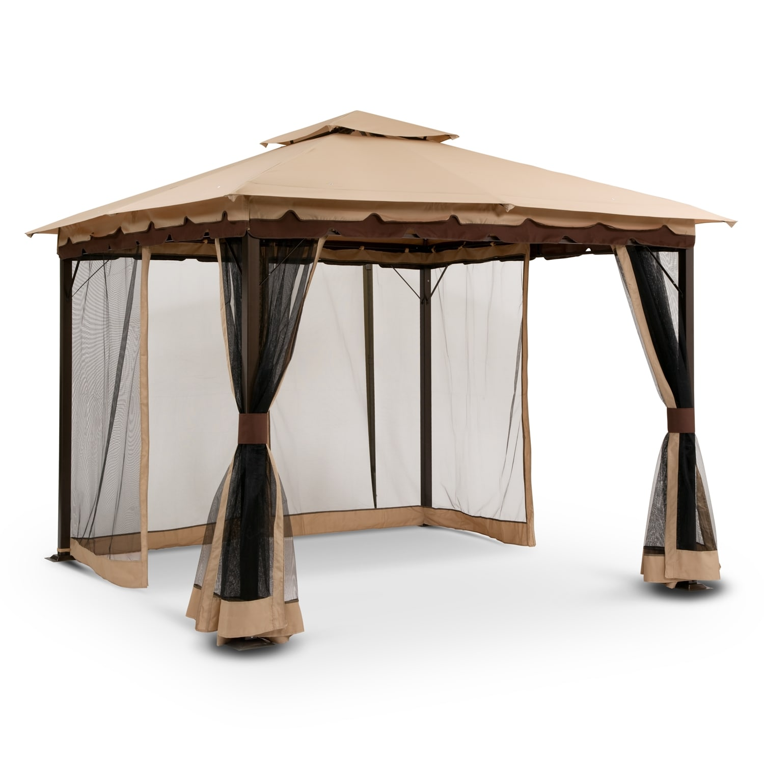 29 brilliant gazebos with screens for Outdoor furniture gazebo