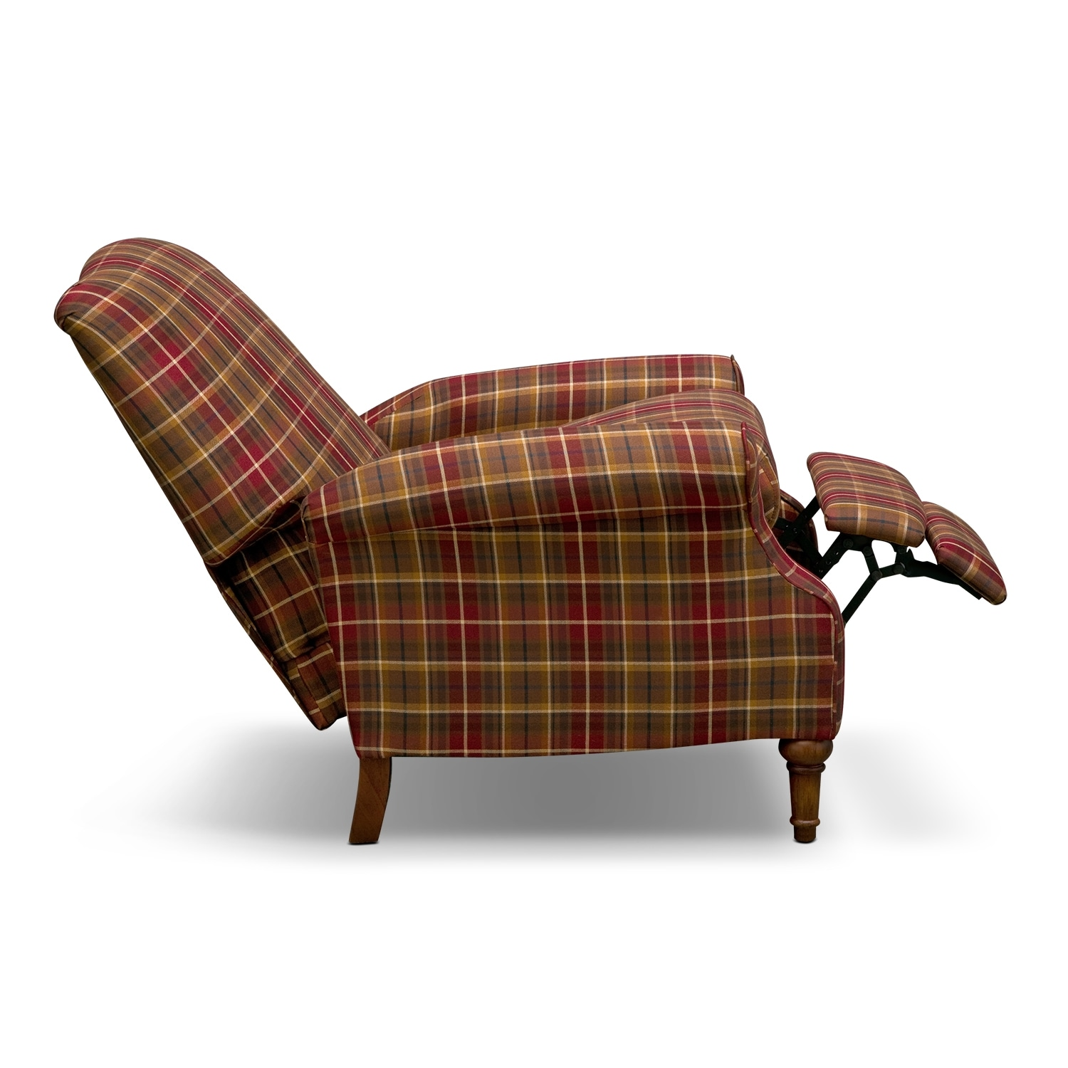 Image Gallery Plaid Recliner