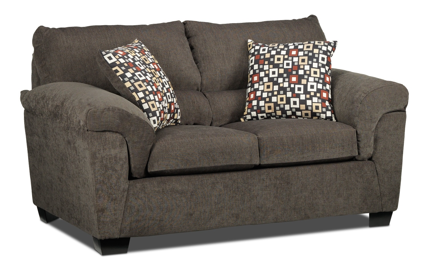 Living Room Furniture - Bliss Loveseat - Charcoal