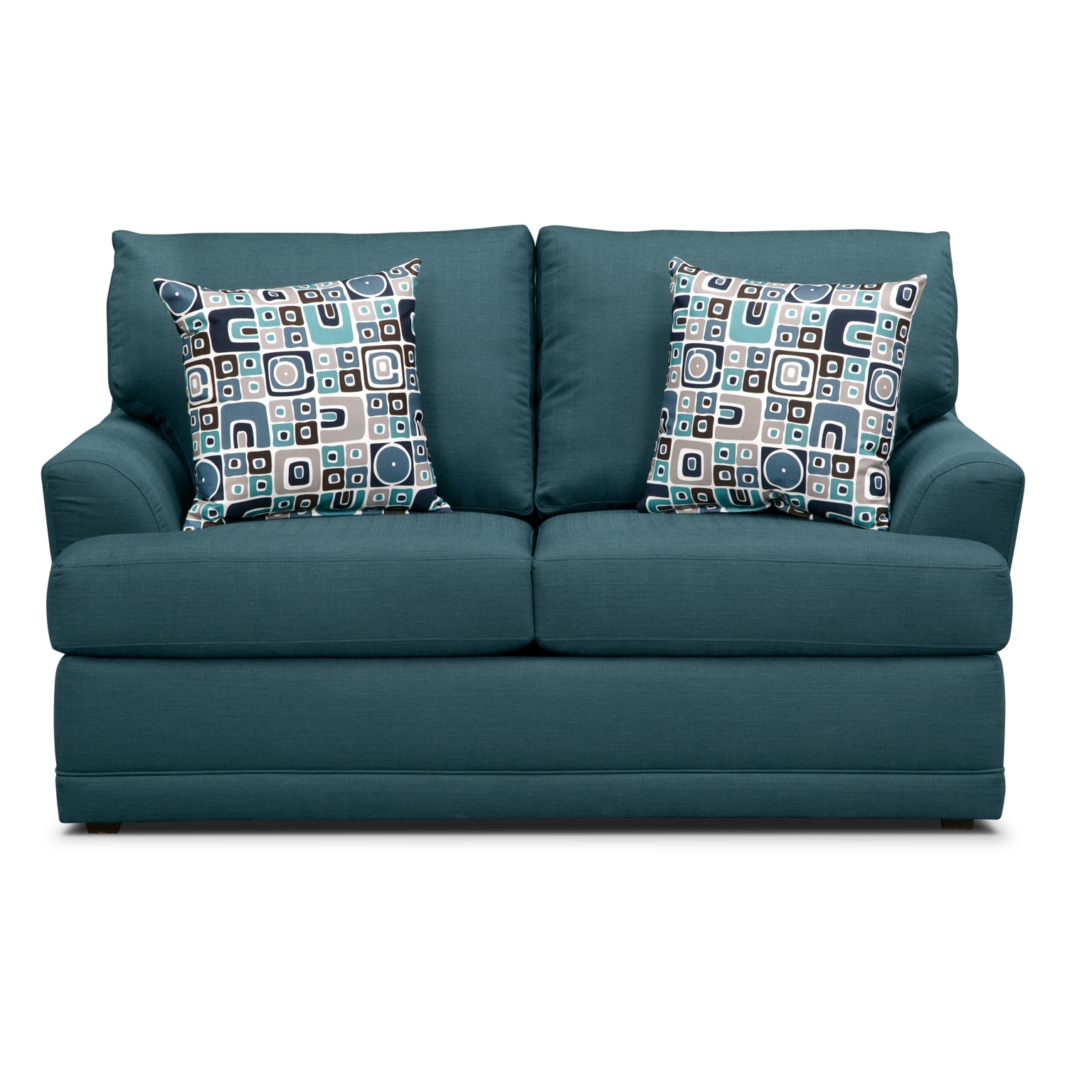 Calamar Teal Loveseat