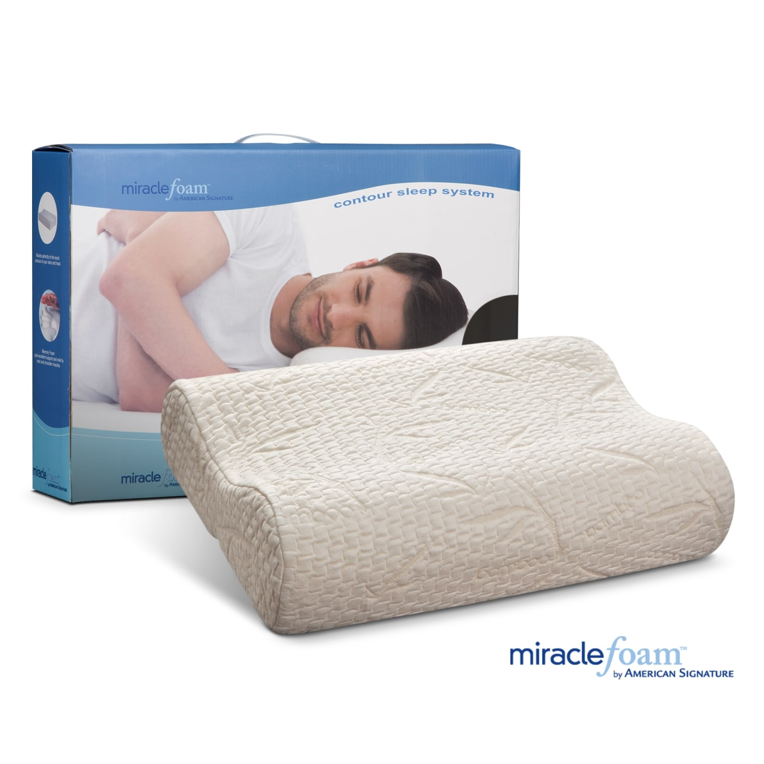Miracle Foam Mattresses And Bedding Contour Pillow Value City Furniture