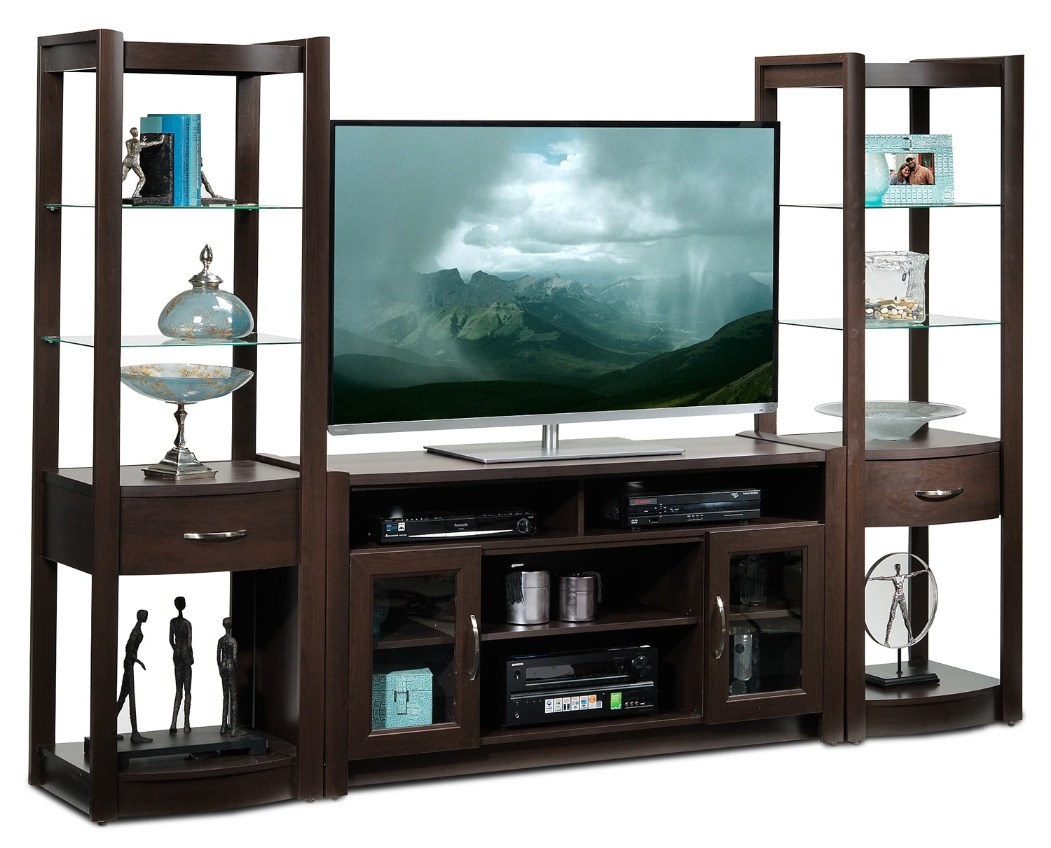Newton 3 Piece Entertainment Wall Unit Java Leon 39 S