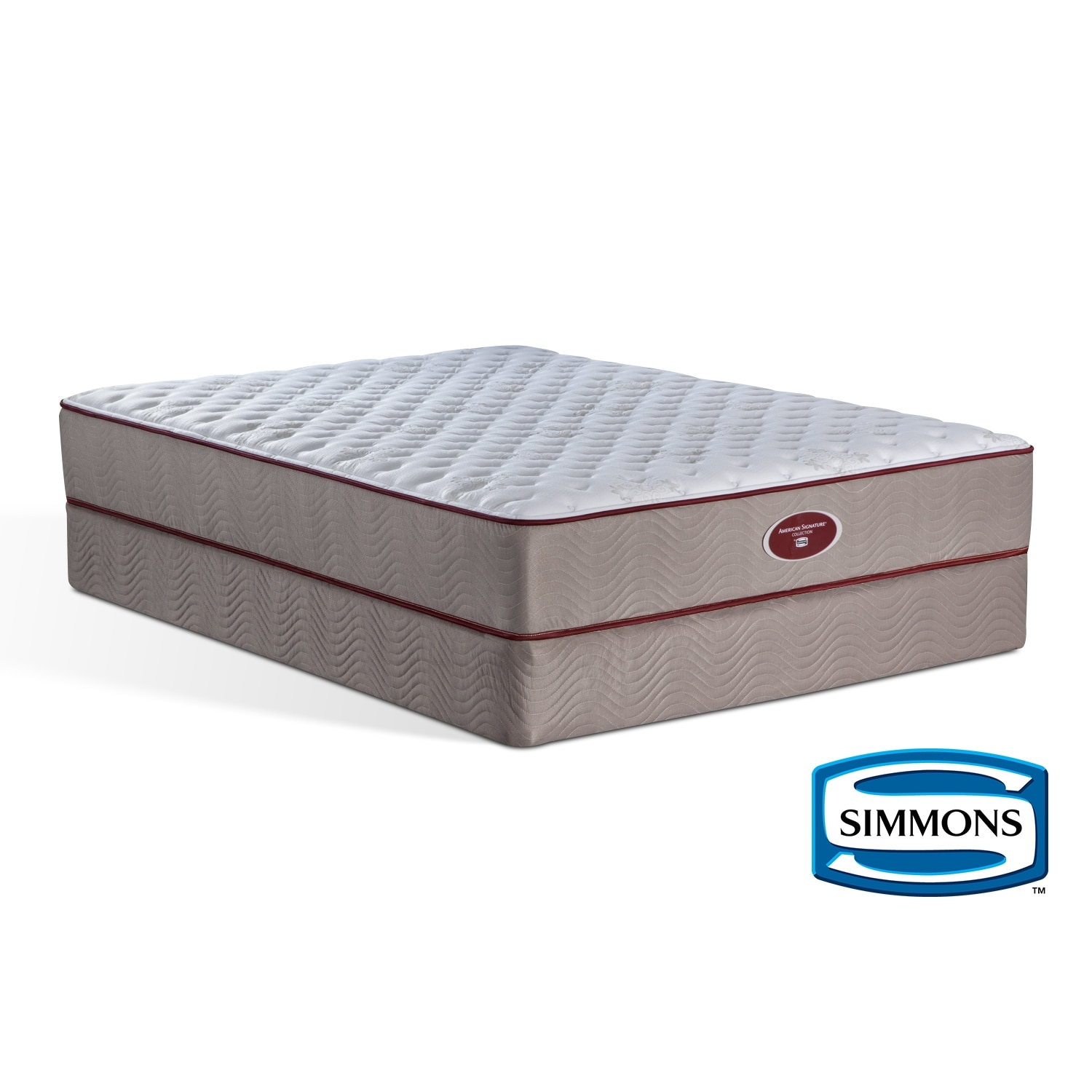 meadow glen firm mattresses and bedding full mattress foundation set value city furniture