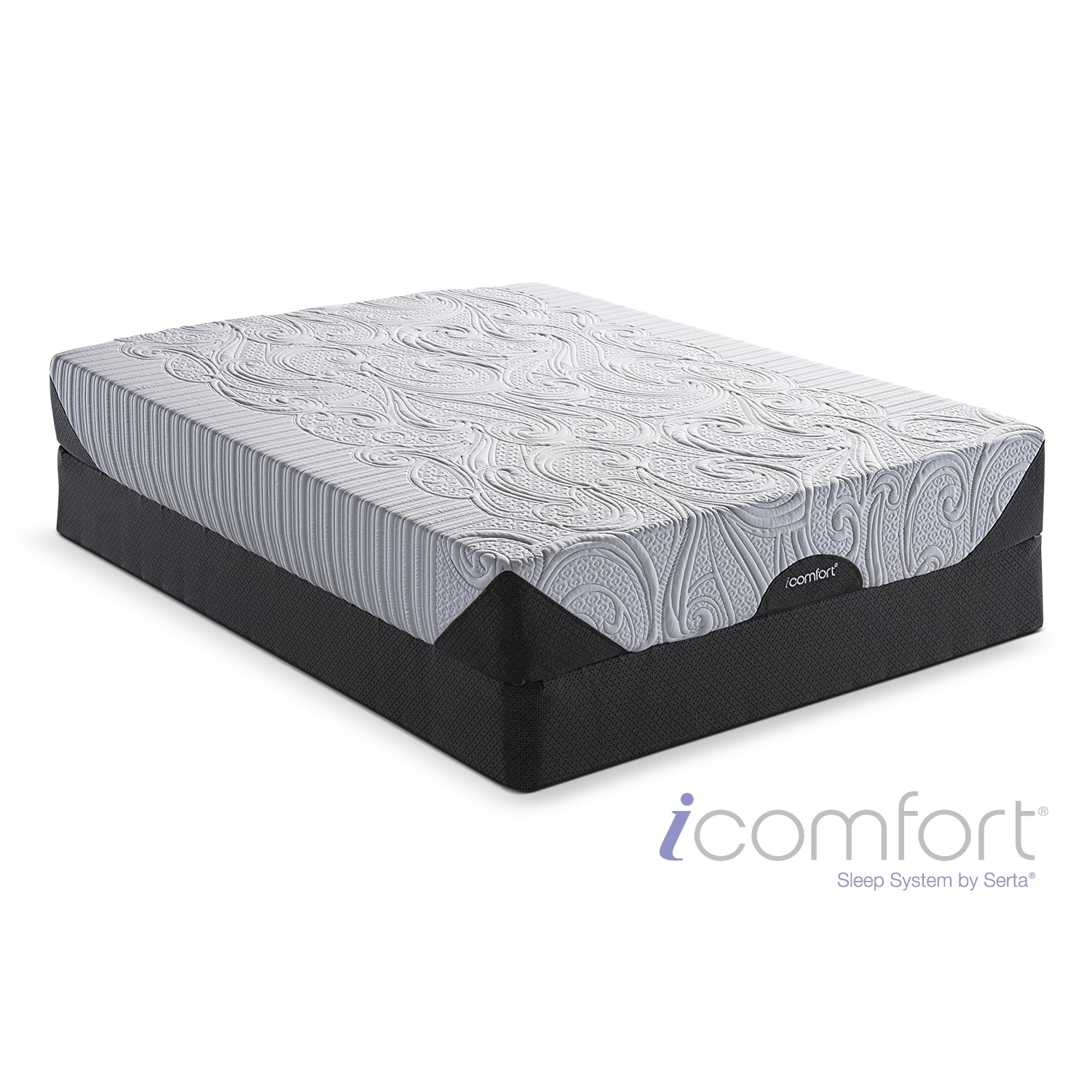 [iComfort Genius EverFeel Queen Mattress/Split Foundation Set]