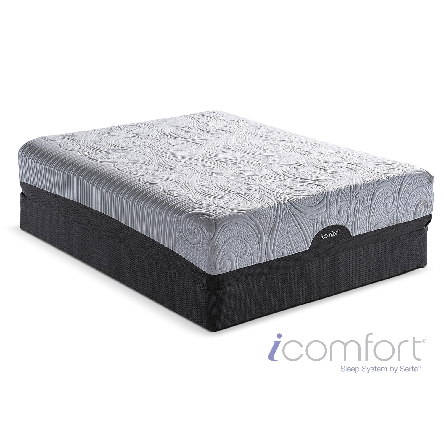 [iComfort Savant EverFeel Plush King Mattress/Split Foundation Set]