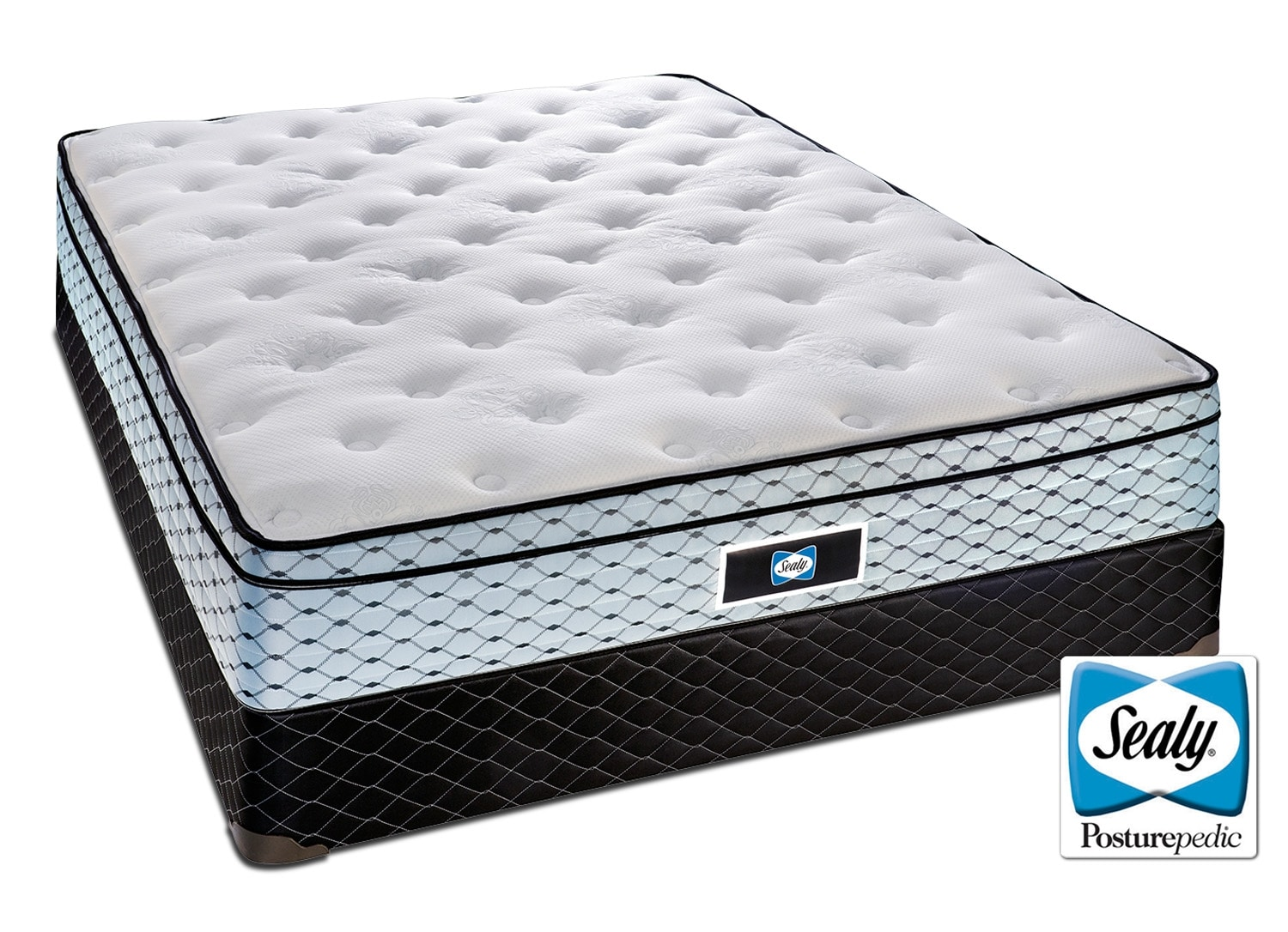 Mattresses and Bedding - Sealy Halo Cushion Firm Full Mattress/Boxspring Set