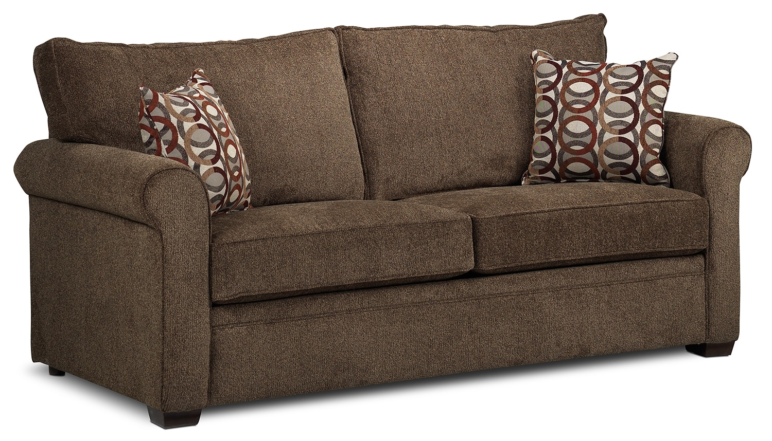 Accent and Occasional Furniture - Ithaca Queen Sofabed - Cocoa