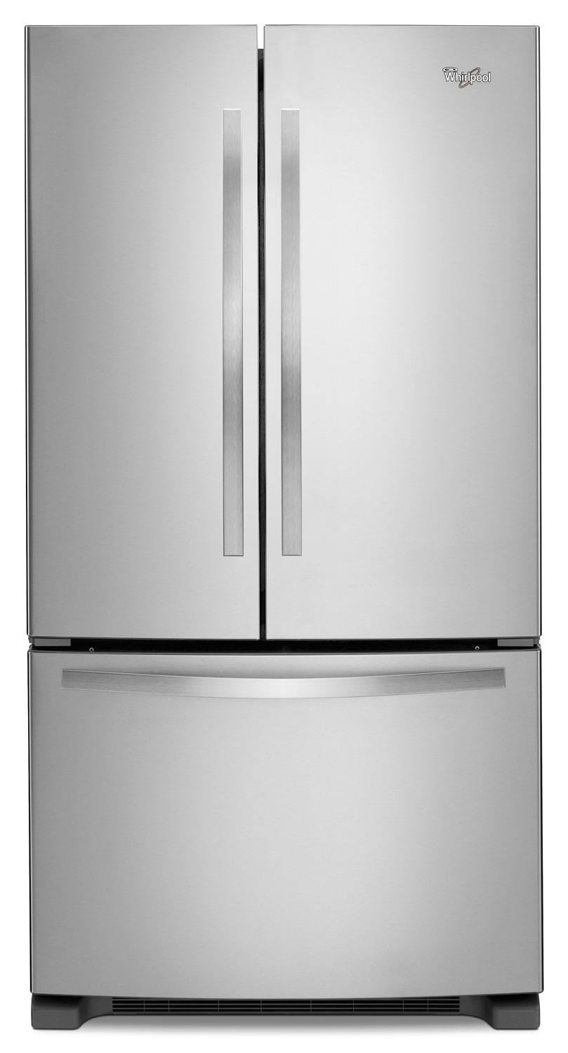 Refrigerators and Freezers - Whirlpool Stainless Steel French Door Refrigerator (22 Cu. Ft.) - WRF532SNBM