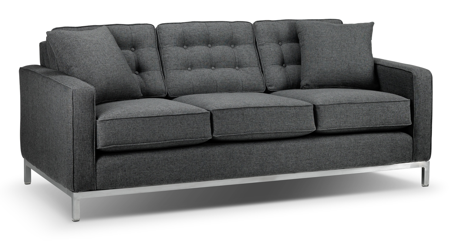 Living Room Furniture - Brunswick Sofa - Charcoal