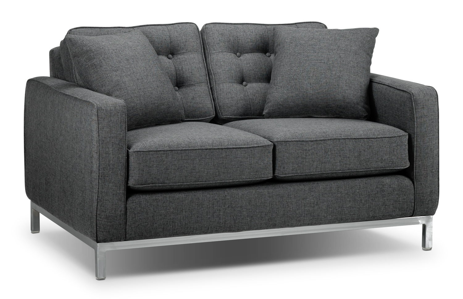 Living Room Furniture - Brunswick Loveseat - Charcoal