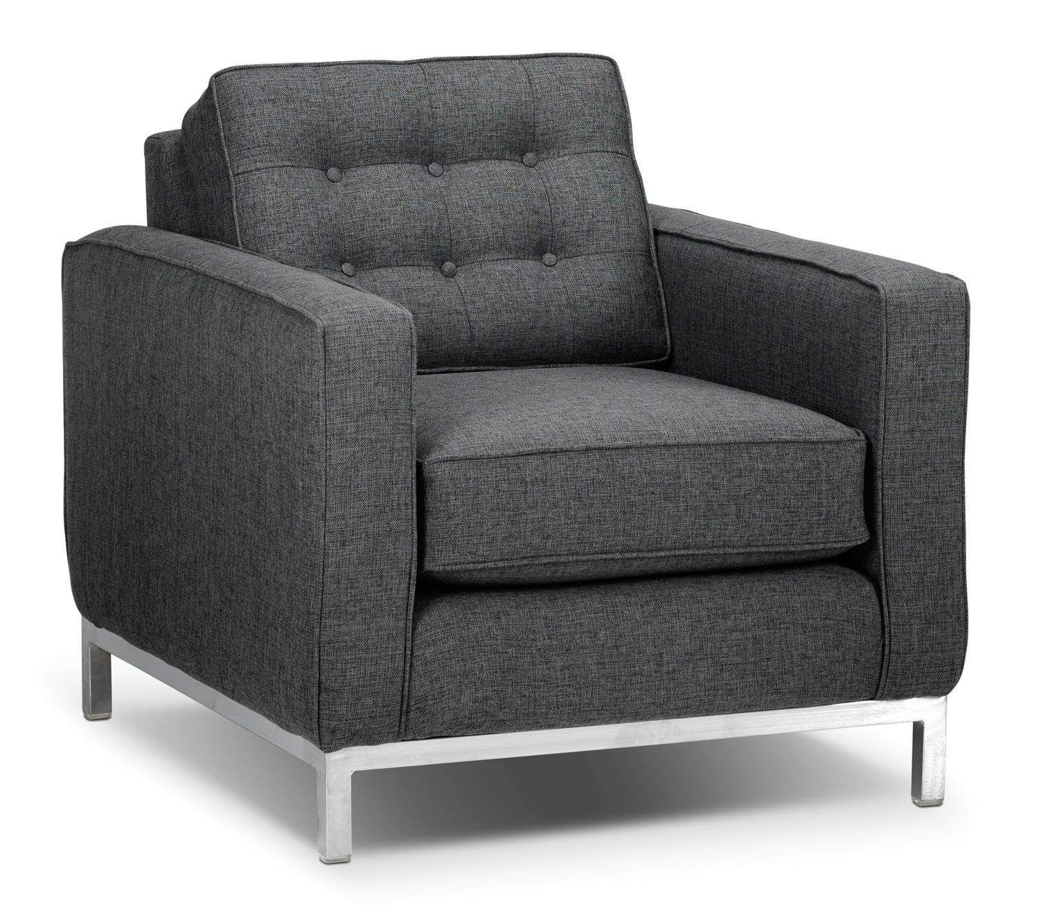 Living Room Furniture - Brunswick Chair - Charcoal