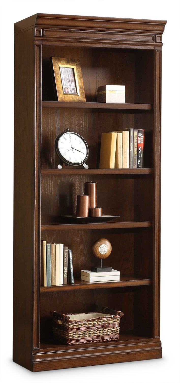 Home Office Furniture - Johanne Open Bookcase - Chocolate Oak