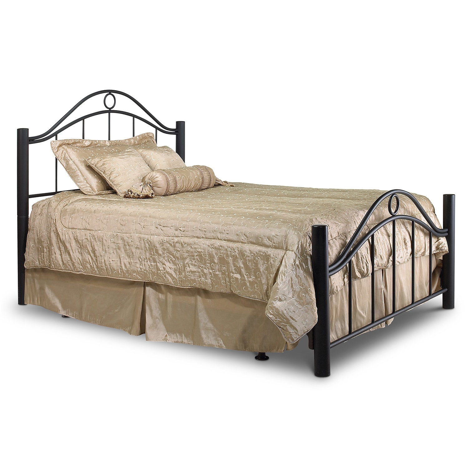 Bedroom Furniture - Linden Queen Bed - Ebony