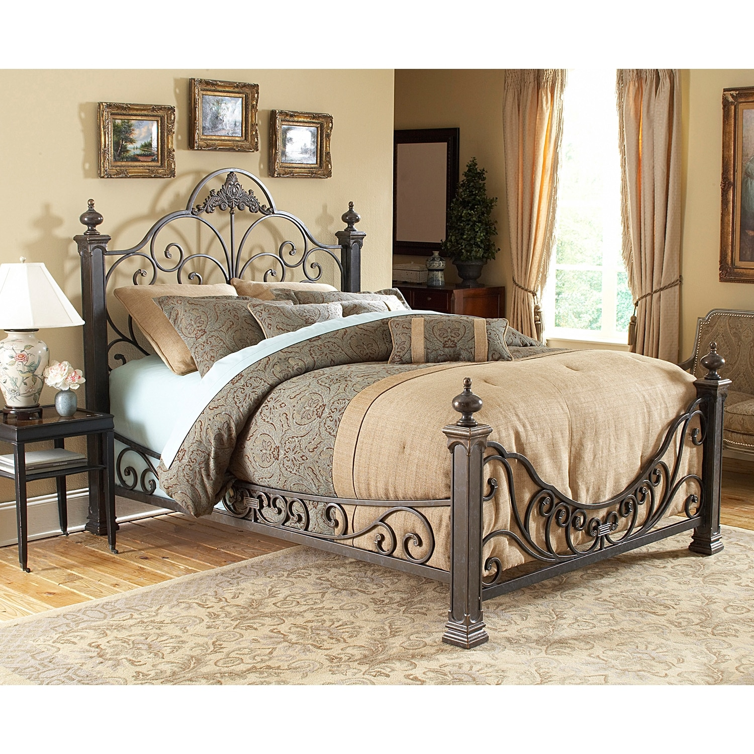 Bedroom Furniture - Talon Queen Bed - Gilded Slate