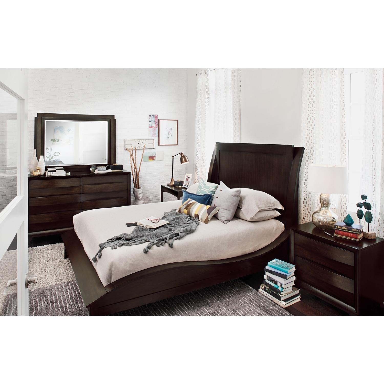 [Cascade Merlot 6 Pc. King Bedroom]