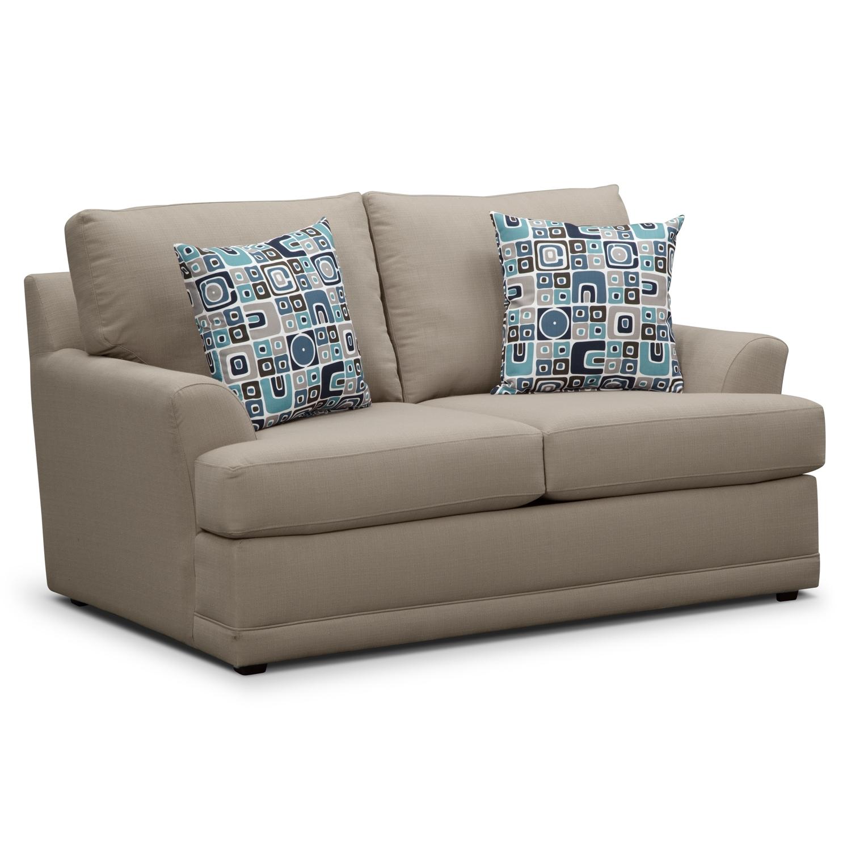 Kismet Queen Innerspring Sleeper Sofa Gray American