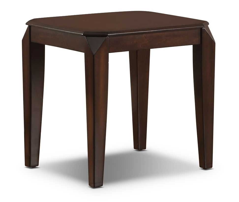 Docila lift top coffee table and two end tables espresso for Coffee end tables