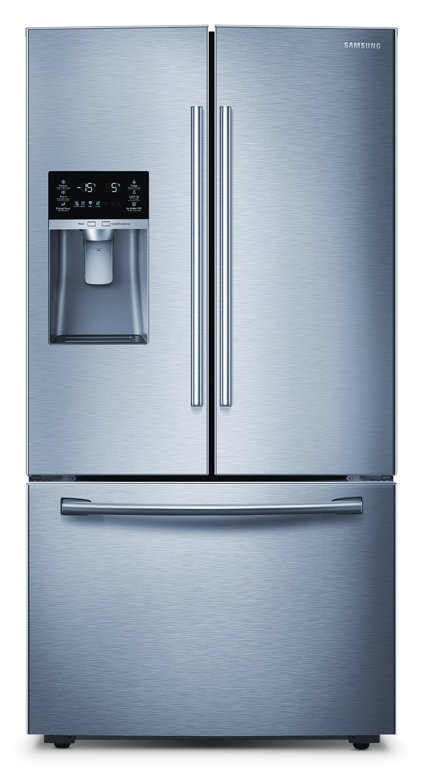 [Samsung Stainless Steel French Door Refrigerator (28.5 Cu. Ft.) - RF28HFEDBSR]