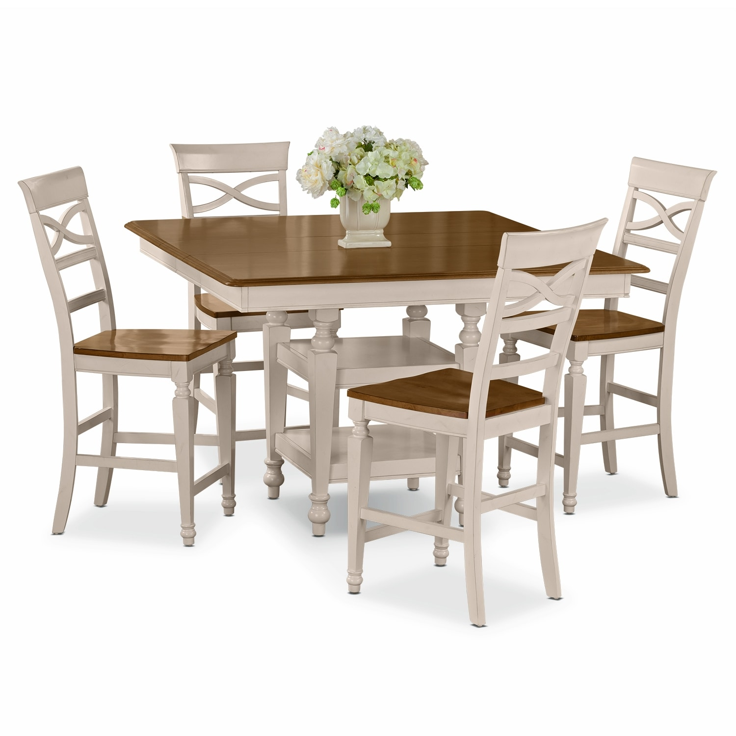 Dining Room Table Heights: Sophie Cream 5 Pc. Counter-Height Dinette