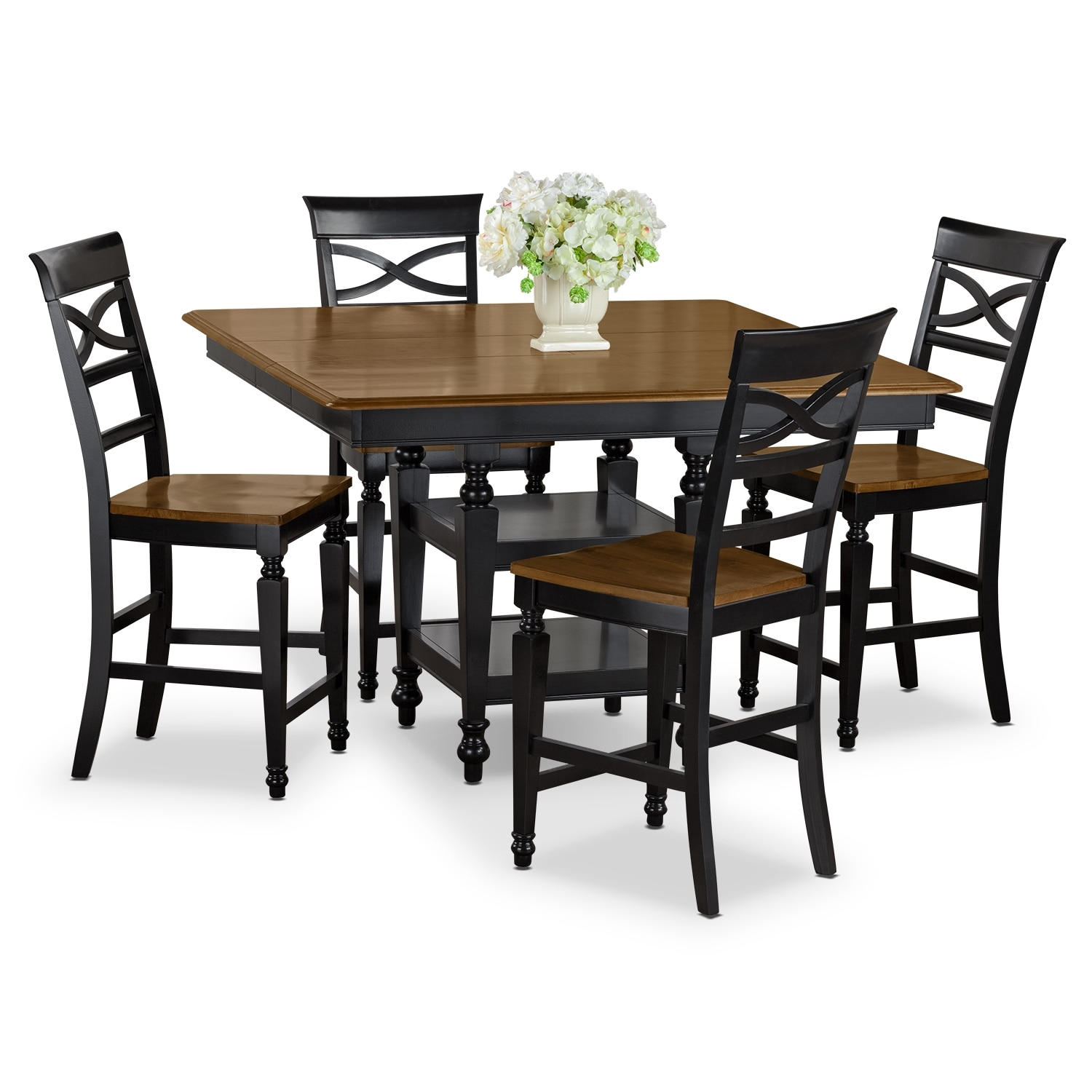 chesapeake dining room 5 pc counter height dinette american signature furniture. Black Bedroom Furniture Sets. Home Design Ideas