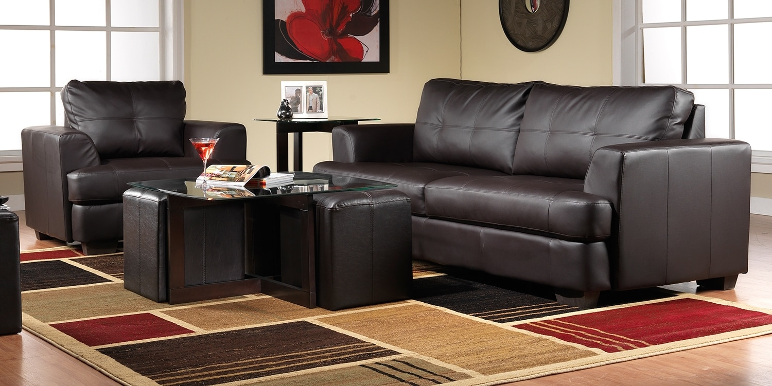 Caitlyn Sofa and Chair Set - Dark Chocolate