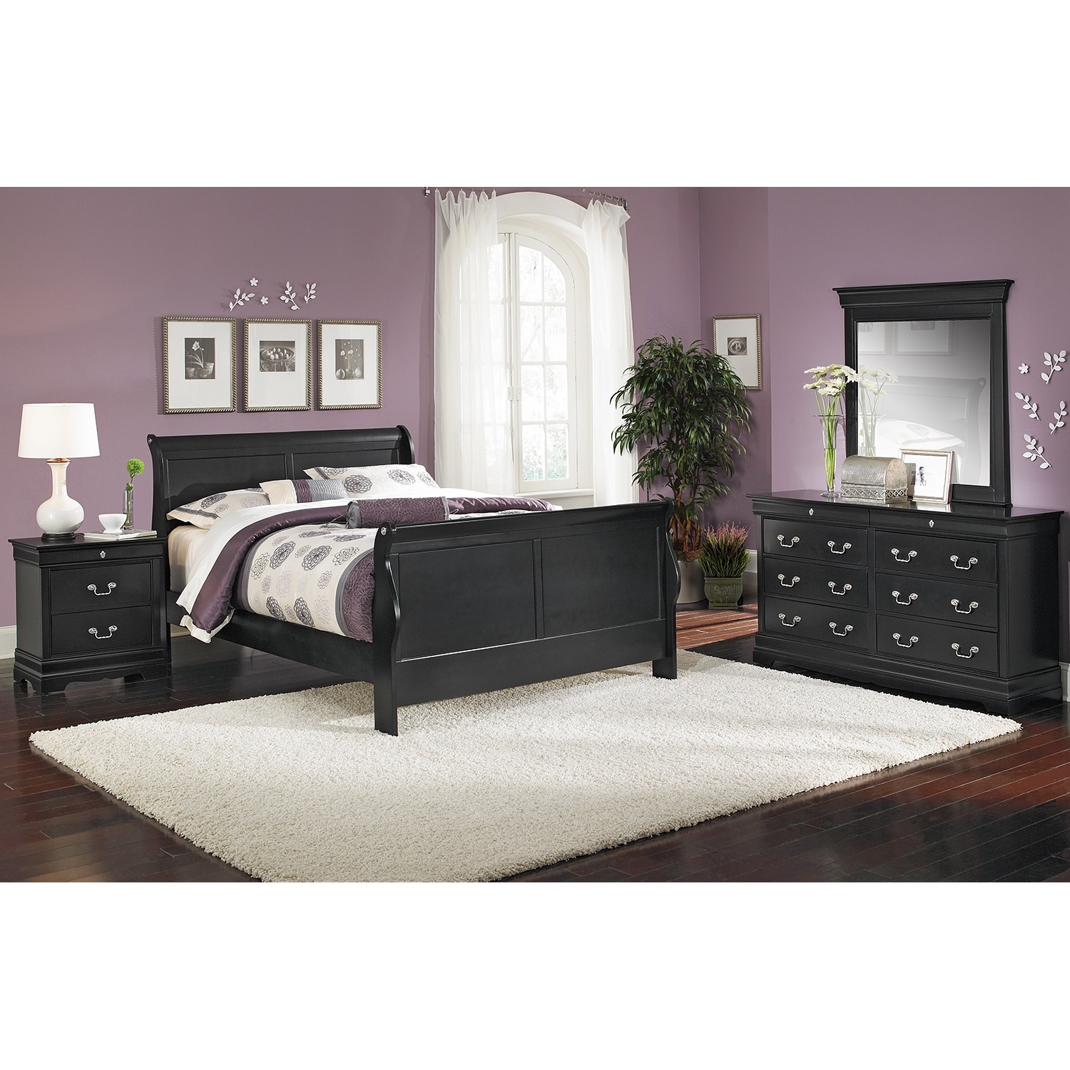 Neo Classic Queen Bed Black Value City Furniture