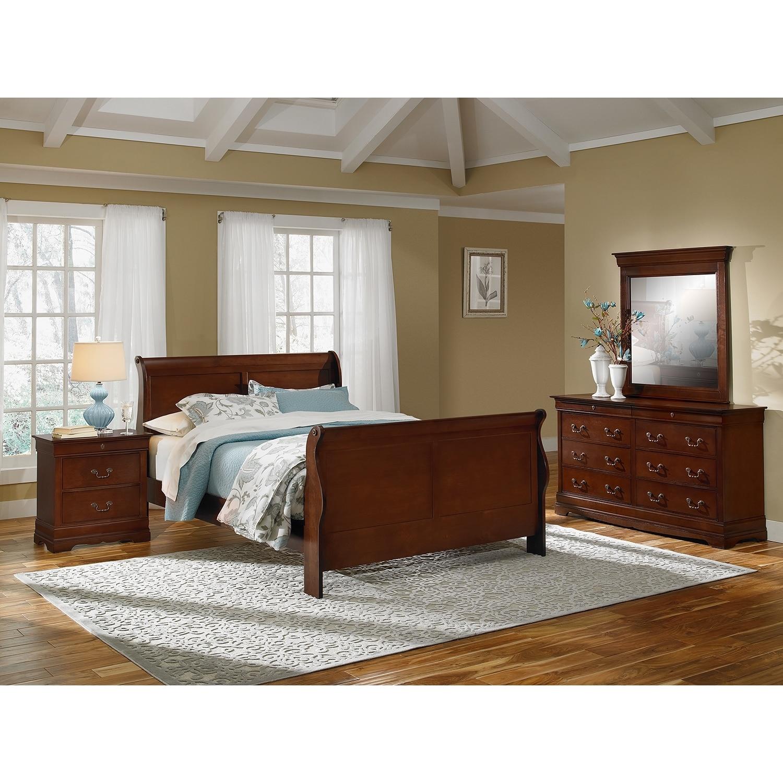 [Neo Classic Cherry 6 Pc. King Bedroom]