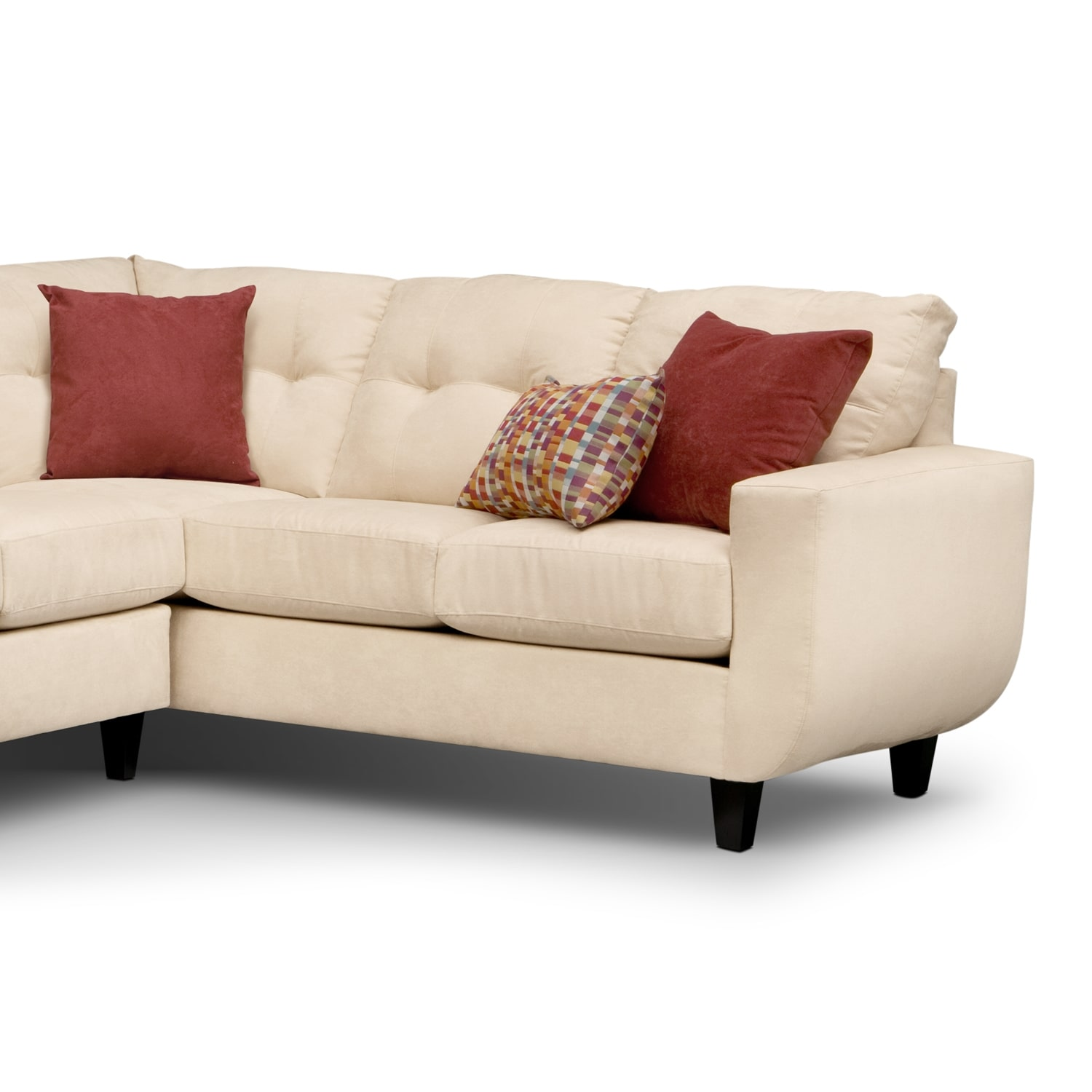 West Village Cream Ii Upholstery 2 Pc Sectional Value City Furniture