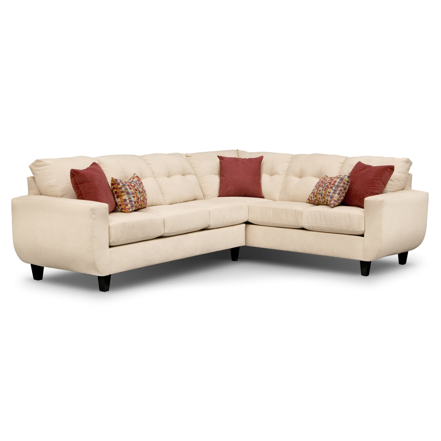 American Signature Furniture Sectionals #26: Living Room Furniture - West Village 2-Piece Sectional - Cream