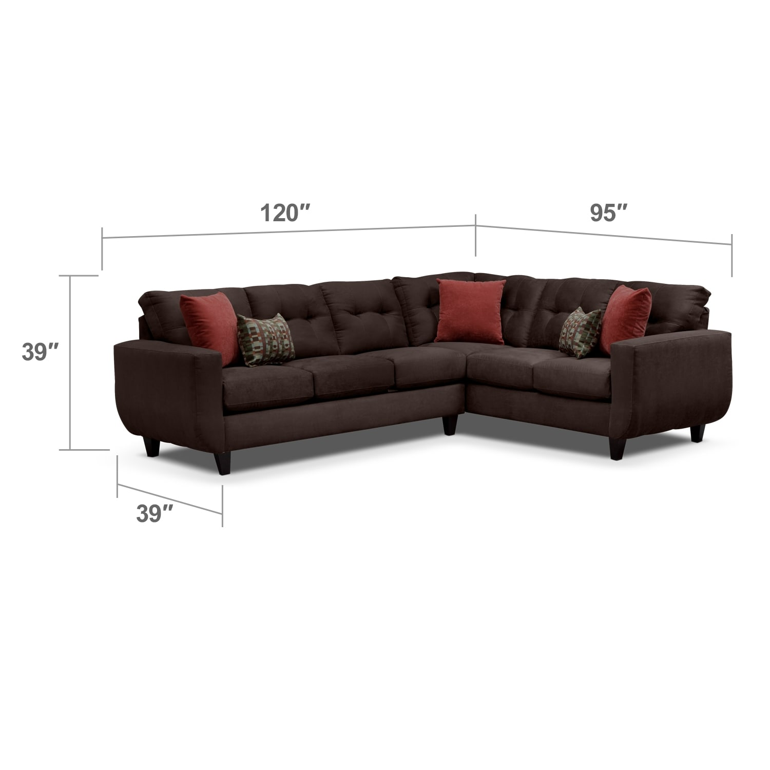 Living Room Ideas To Steal For Comforting Vibe Found In: West Village 2-Piece Sectional - Chocolate
