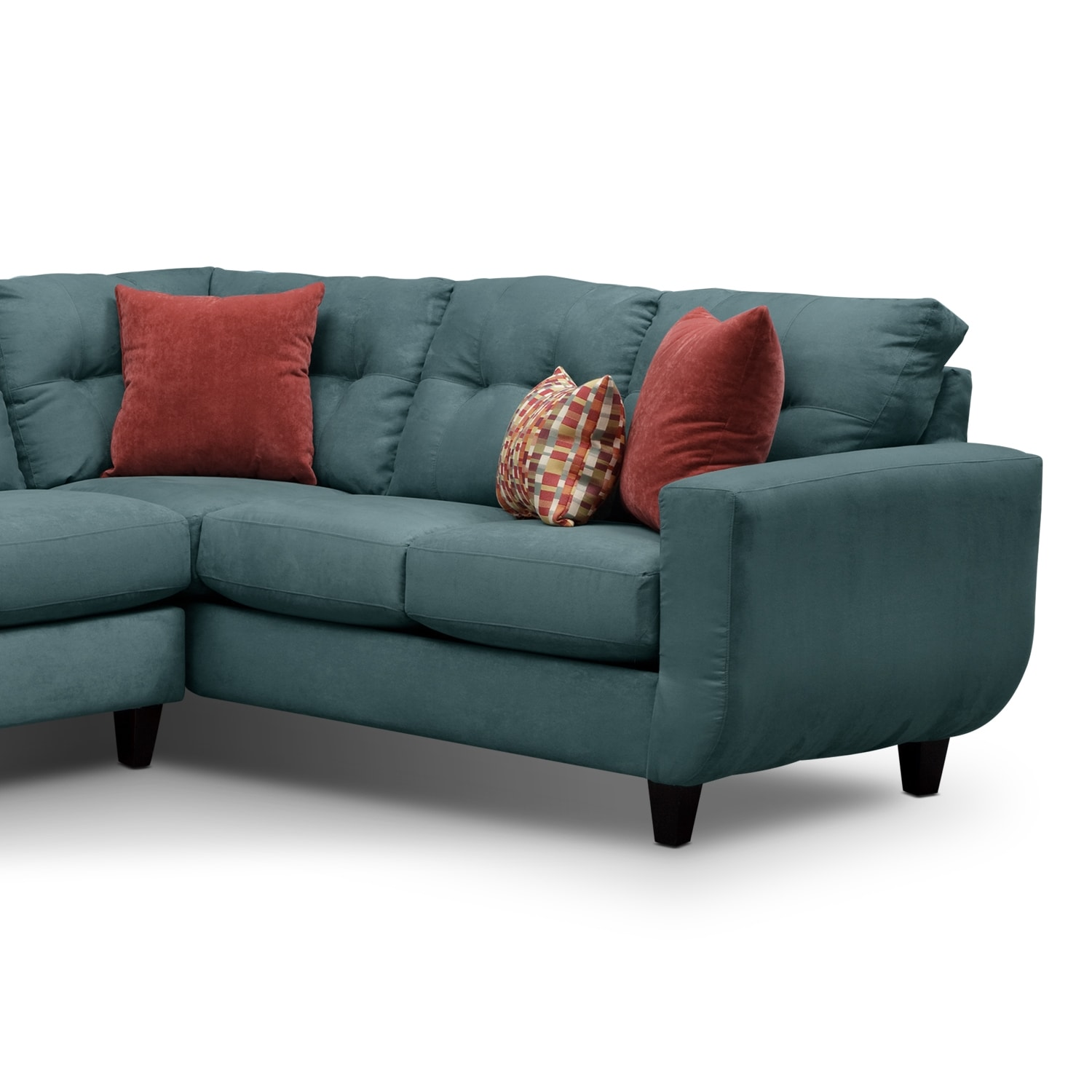 West Village Blue Ii Upholstery 2 Pc Sectional Value City Furniture