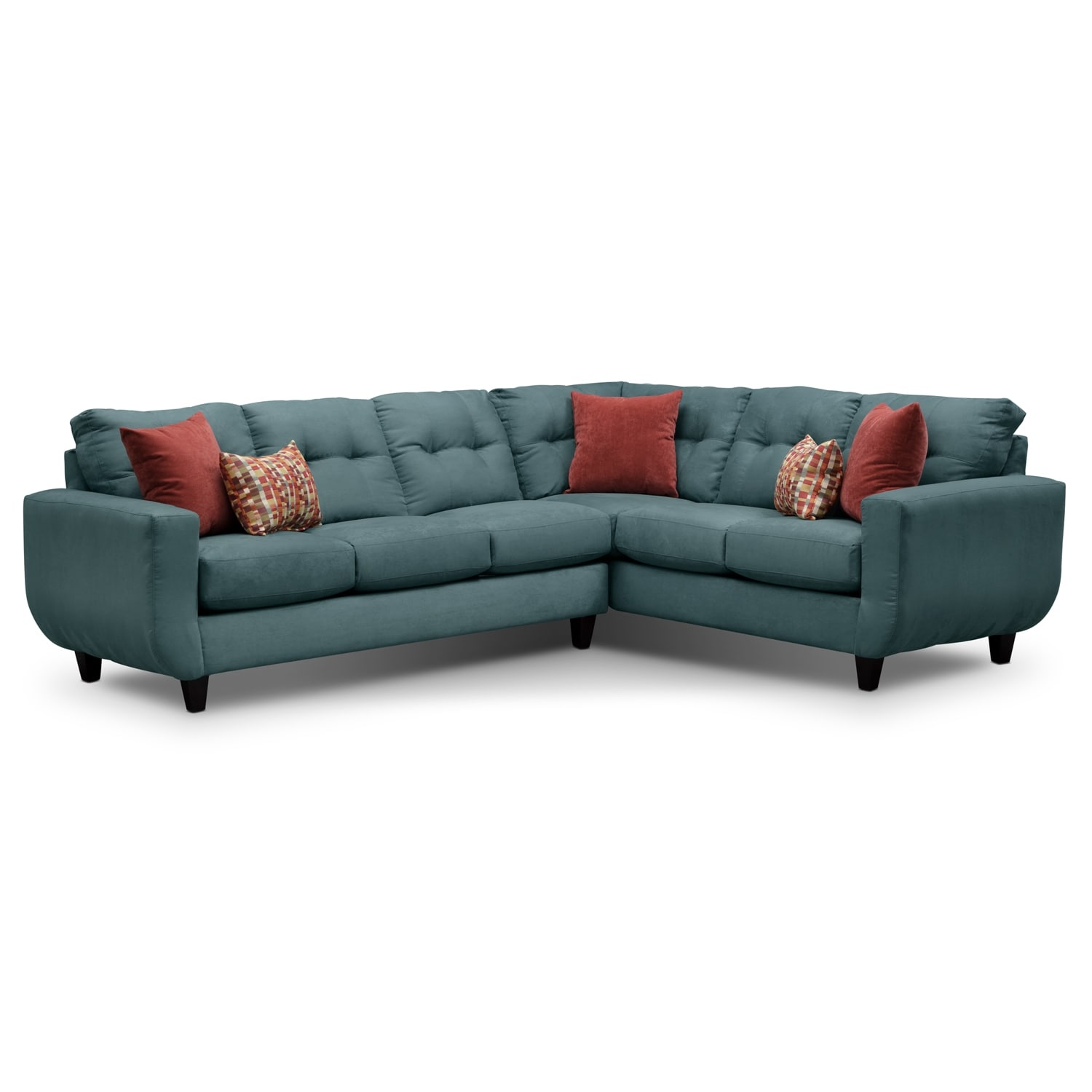 [West Village Blue II 2 Pc. Sectional]