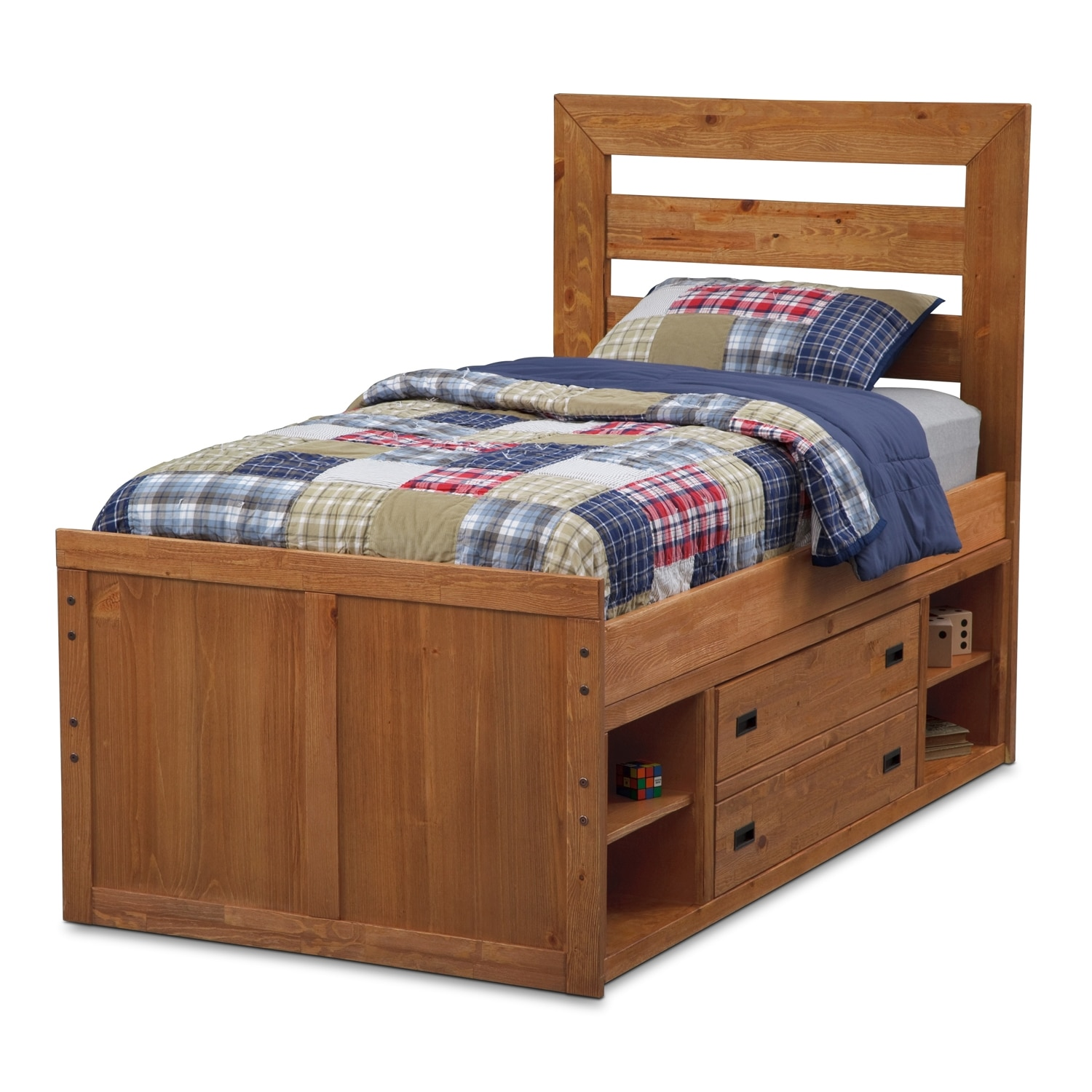 Kids furniture twin bed w captain storage value city furniture