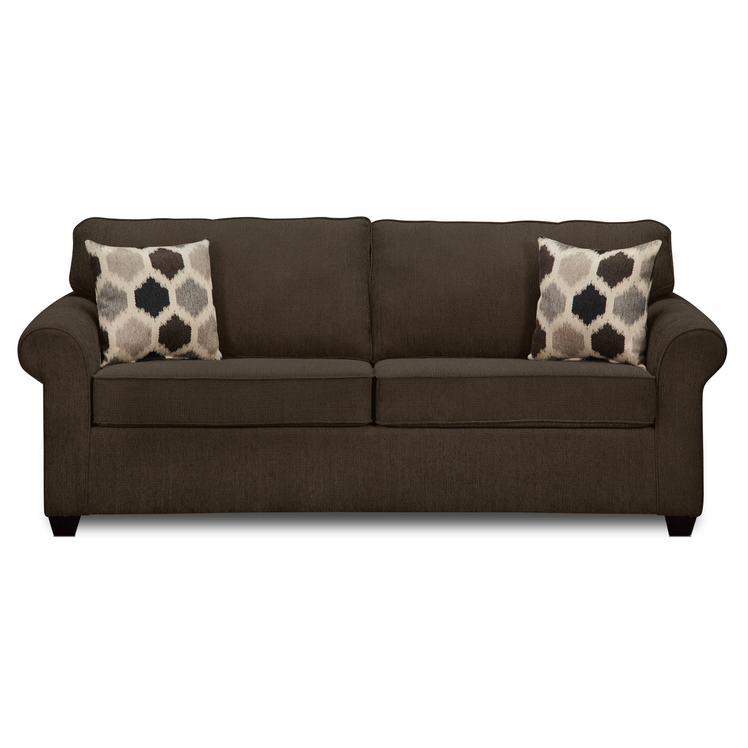 Fletcher ii upholstery queen sleeper sofa value city for Sofa bed value city furniture