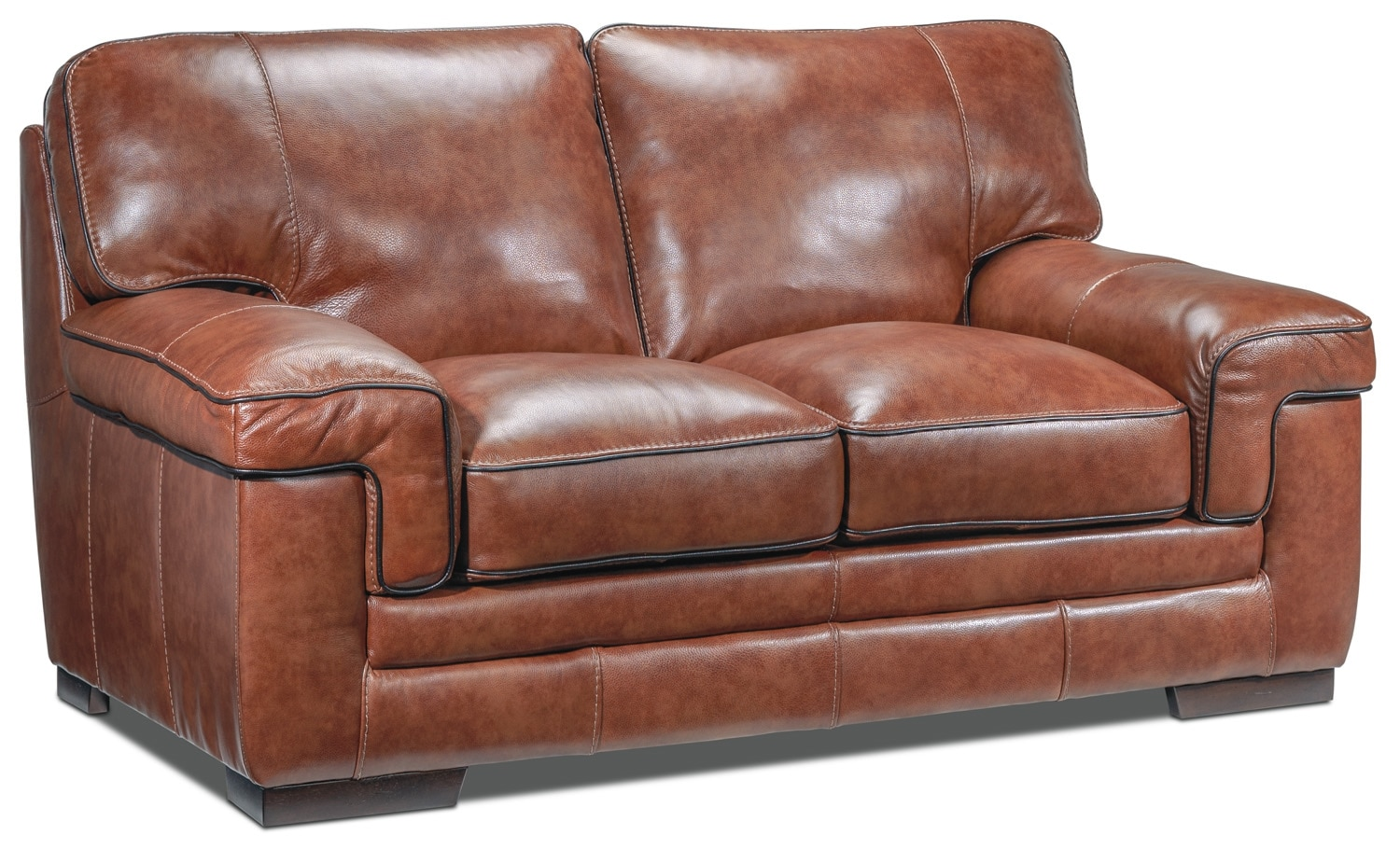 Stampede Loveseat - Brown