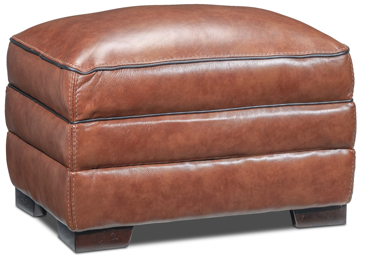 Living Room Furniture - Stampede Ottoman - Brown