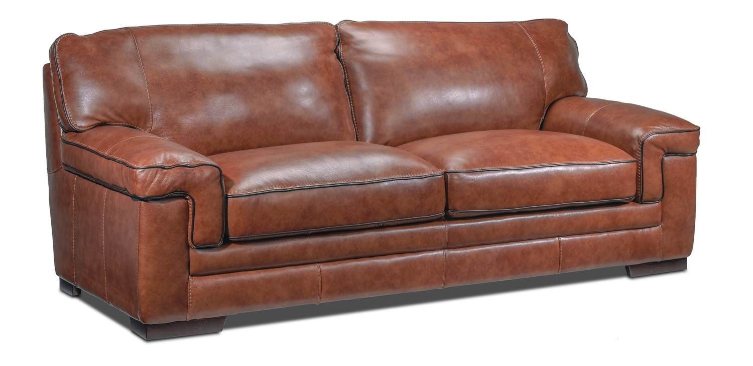 Living Room Furniture - Stampede Sofa - Brown