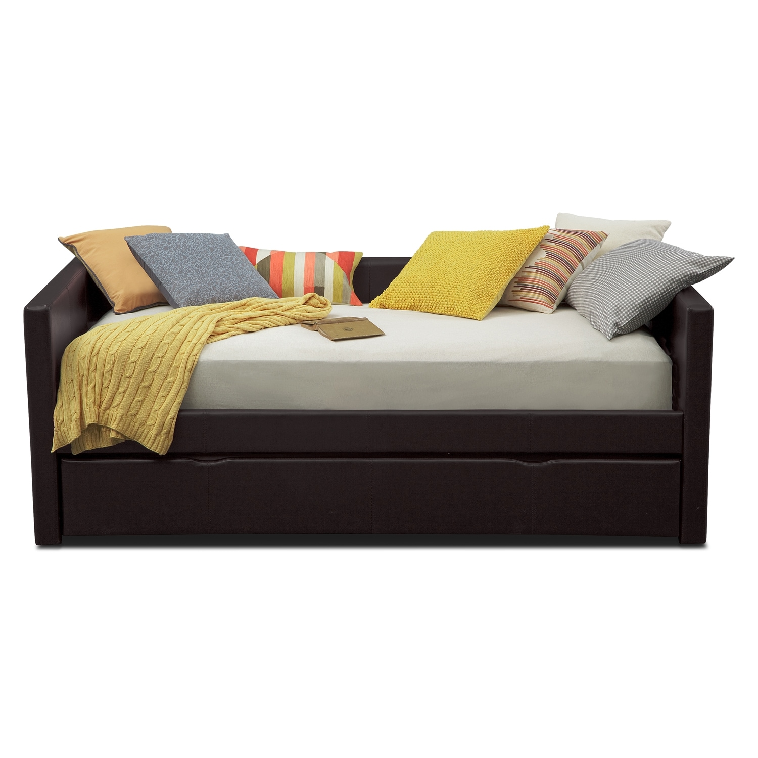 carey daybed with trundle brown value city furniture