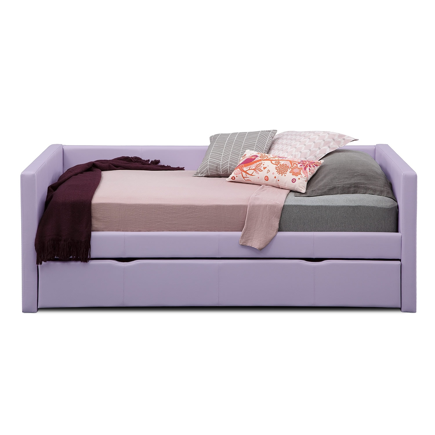 Darby Purple Full Daybed With Trundle Furniture Com
